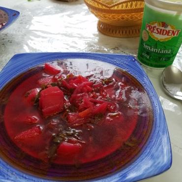Bors cu sfecla (beets)